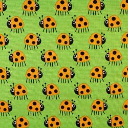 copenhagen fabrics ladybugs printed cotton fabric scandinavian design