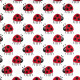Stoffe Copenhagen Baumwollstoff Marienkäfer rot auf weiß Dänemark skandinavisches Design gedruckt