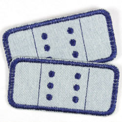 iron on patches denim 2 jeans plaster patches items lightblue dark blue appliques