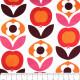 Stoffe Copenhagen Baumwollstoff gedruckte Blumen rot auf weiß skandinavisch Designerstoff