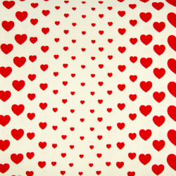 cosmo fabrics printed red hearts cotton canvas japanese design strong fabrics