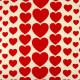 cosmo Canvas Stoffe Herzen Baumwolle rote Herzen und Herzchen auf weiß feste Qualität