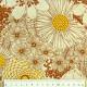 cotton fabric flowers brown orange yellow Robert Kaufmann fabrics plants