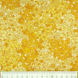 Stoff Blumen orange gelb Baumwollstoff kleine Blüten Motive Kaufman mit Blümchen