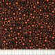 black cotton fabric with printed stars and circles by Patrick Lose fabrics