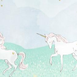 Michael Miller fabrics unicorn as curtain or drape cotton