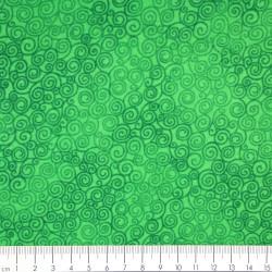 grüner Baumwollstoff von timeless treasures fabrics Stoff Kollektion Jazz Farbe grün