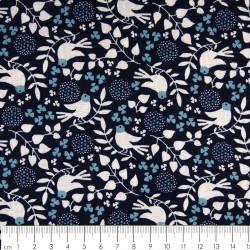 westex cotton fabric birds printed white blue and light blue soft fabrics