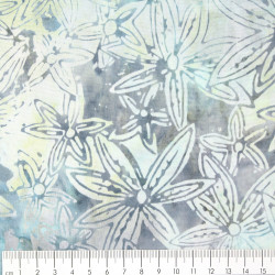 flowers fabric batic timeless treasures fabrics b3270 cotton Tonga Color Surf