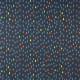 Stoffe Michael Miller bunte Tropfen auf dunkelblau Navy-D Baumwollstoff feste Qualität