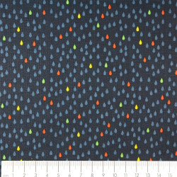 Michael Miller fabrics colorful drops Emily Herrick DC7211 Droplets Navy - D patchwork quilting dark blue