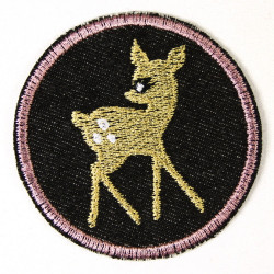 Flickli - the iron on patch! round deer ø 7cm