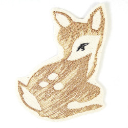 deer iron on patches 10 x 7,5 cm embroidered applique and accessory for children