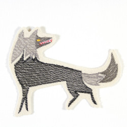 iron-on patches wolf applique accessory for children