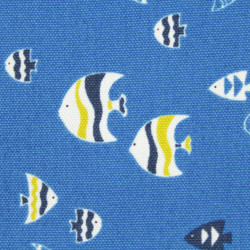 cosmo fabrics printed blue fish cotton japanese design canvas