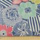 cosmo Stoffe große Blumen Canvas Baumwollstoff Leinen hellblau feste Qualität