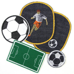 Iron-on Patches football appliques 5 accessories soccer