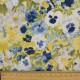 florale Stoffe gelbe, blaue und weiße Blumen Baumwollstoff bunte Stiefmütterchen