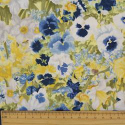 floral fabrics colorful printed flowers cotton canvas fine plants garden flowers