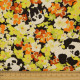 cosmo Stoffe Blumen gelb orange und Pandas Baumwollstoff Canvas feste Qualität