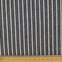 fester Jeans Stoff blau mit weißen Streifen breit und schmal