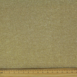 lurex fabrics cotton linen blend Essex Yarn Dyed camel 190g/m² gold