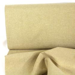 lurex fabrics cotton linen blend Essex Yarn Dyed camel 190g/m² gold