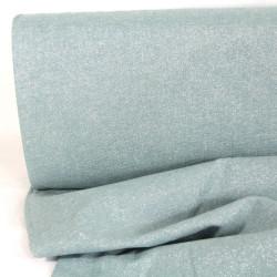 Metallic Stoff hellblau feste Baumwolle Leinen Essex Yarn Dyed Water Lurex
