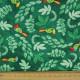 Papagei Stoff Vogel Baumwollstoffe grün für Kinder von timeless treasures fabrics