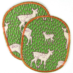 Flickli - the patch! XL set deer retro style iron-on-patches fawn big badges for kids