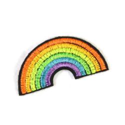 Bügelflicken Flickli Regenbogen klein neon Bügelbild Aufbügler Flicken