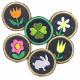 Bügelflicken Flicken Blumen Hase Klee Aufbügler kleine Bügelbilder Angebot Blümchen Kaninchen Kleeblatt Applikation Jeans patch