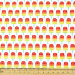 Baumwollstoff Stieleis Robert Kaufman Stoff Eis am Stiel Suzy Ultmann Patchworkstoff ice Suzy's Minis #17212 Kinderstoff fabric