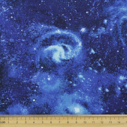 Cotton fabric stars fabrics space universe Robert Kaufman fabrics