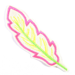 Patch feather neon iron-on patch to iron on Patches Neon feather iron-on patch for children and adults application