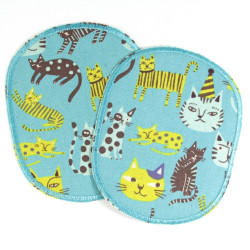 iron-on patch flickli! XL set cat badges cats appliques iron-on badges kitten big for kids 2 piece