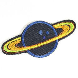 Bügelbild Planet Flicken Saturn Aufbügler Bio Jeansflicken Aufnäher Weltraum Applikation Stern Patch Hosenflicken