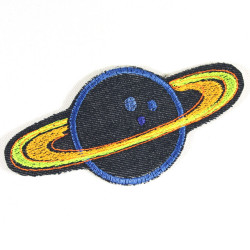 iron-on patch planet saturn badges space orbit appliques