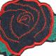 Bügelbilder Rose Aufbügler Applikation Blumen Flicken Röschen Aufnäher Bio Jeansflicken Flickli organic patches Bügelflicken