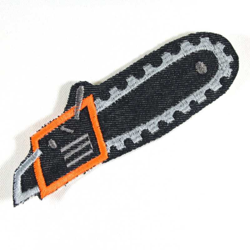 iron-on-patches chainsaw applique tool knee patch mend badges for adults organic denim patch for guys and boys handyman flickli