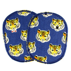iron-on-patch flickli tiger cat iron-on badges appliques for wilde boys knee patches