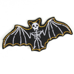 Iron-on patch bat patch black white badges vampire appliques skeleton bones skull for adult gothic night