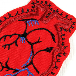 Anatomical Heart Iron-on Patch Iron-on applique Mending Organ Patch Human Anatomy Iron-On Red for Adult Tattoo badges
