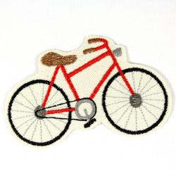 Bügelbild Fahrrad rot Aufbügler Bügelflicken Velo Aufnäher zum aufbügeln Hosenflicken Knieflicken Bio Aufbügler Fahrzeug Patches