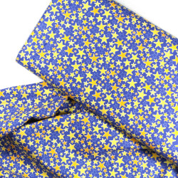 Cotton fabric stars yellow gold fabrics royal blue navy Robert Kaufman fabrics