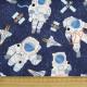 USA Patchworkstoff Astronaut Weltraum Stoff timeless treasures mit Raumschiff und Satellit