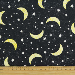 timeless treasures fabrics cotton fabric moon stars in space universe by night