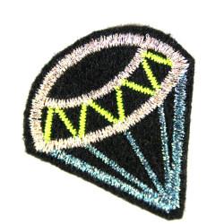 Diamant glitzer Bügelbild klein Accessoire Erwachsene Patch Flicken Bügelflicken Aufnäher klein metallic