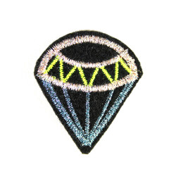 Accessories diamond repair iron-on patches metallic small lurex badges glitter patch