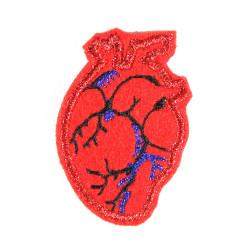 Herz glitzer Bügelbild klein metallic Accessoire Erwachsene Patch Flicken Bügelflicken Aufnäher edel für Erwachsene
